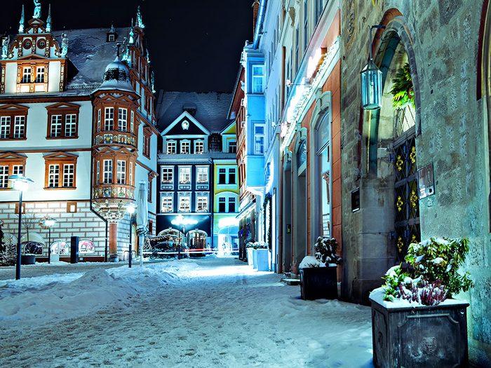 Cobourg en Allemagne est l'une des 13 villes dans le monde qui sont magnifiques sous la neige.