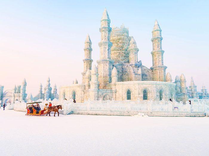 Harbin en Chine est l'une des 13 villes dans le monde qui sont magnifiques sous la neige.