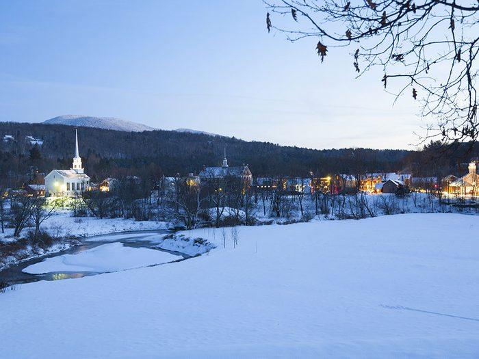 Stowe dans le Vermont est l'une des 13 villes dans le monde qui sont magnifiques sous la neige.
