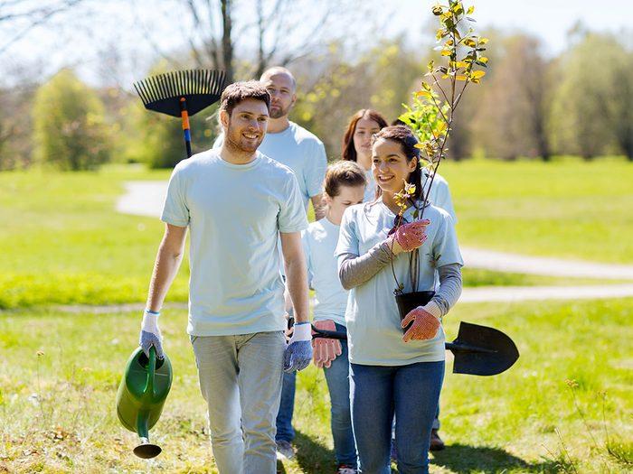 Organisez un projet communautaire pour assurer un bon voisinage.