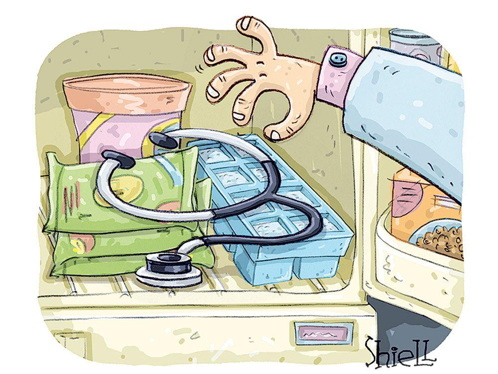 Caricature sur le monde du travail.