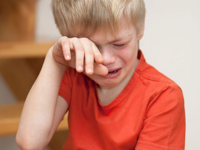 Dépression infantile: votre enfant pleure souvent.