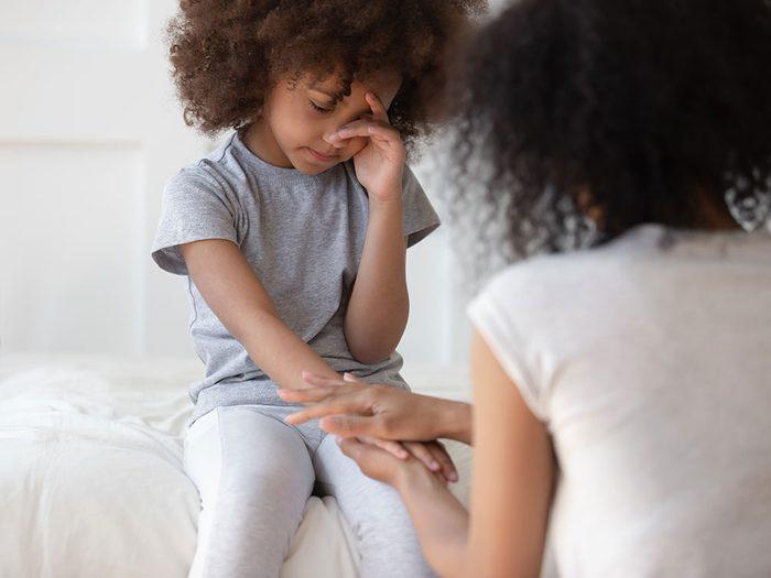 Dépression infantile: votre enfant pense qu'il ne vaut rien.