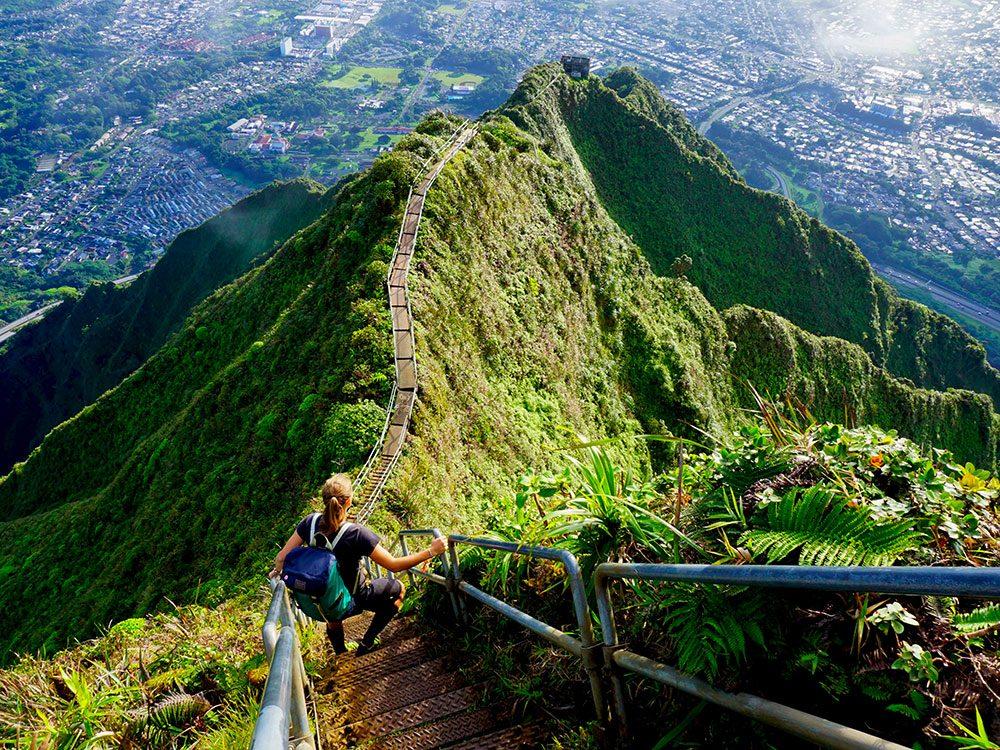 L'escalier Haiku, surnommé Stairway to Heaven, est l'un des escaliers les plus vertigineux au monde.