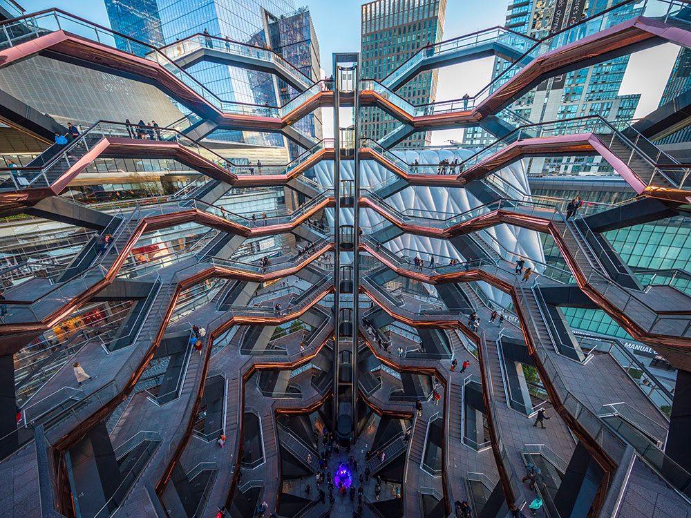 The Vessel à New York est l'un des escaliers les plus vertigineux au monde.