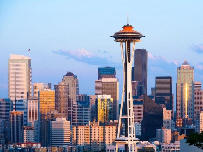 Faits incroyables: la majorité des Canadiens vivent au sud de Seattle.