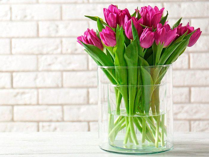 Les bouquets de fleurs permettent d'avoir une maison lumineuse en hiver.