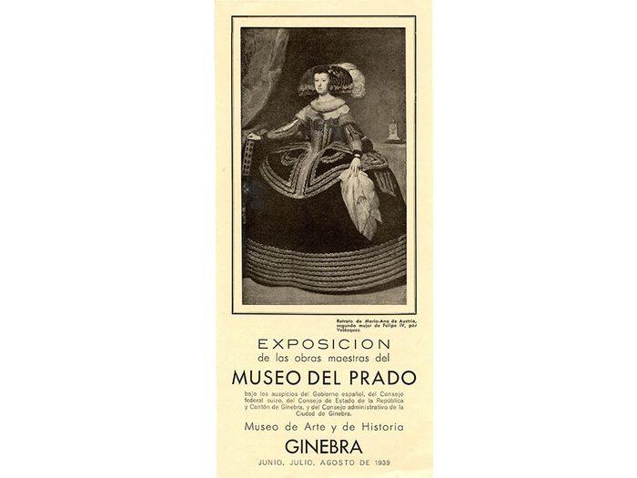 Pendant la guerre civile, les pièces les plus importantes du Musée du Prado ont été mises à l'abri à Genève, où une exposition a eu lieu en 1939.