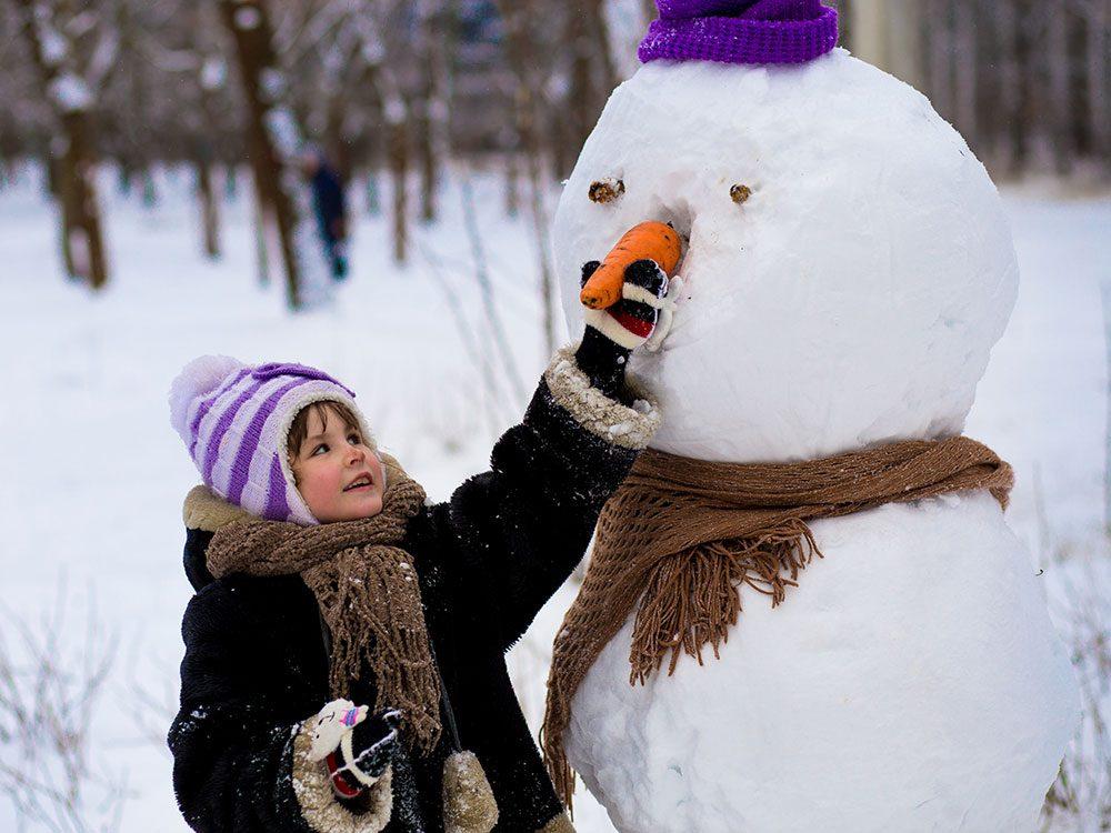 La neige pour un bonhomme géant.