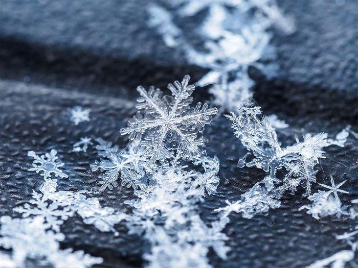 Neige: les flocons de neige peuvent être identiques.