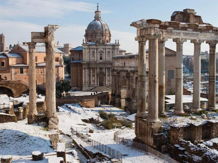 La neige en vedette en Italie.