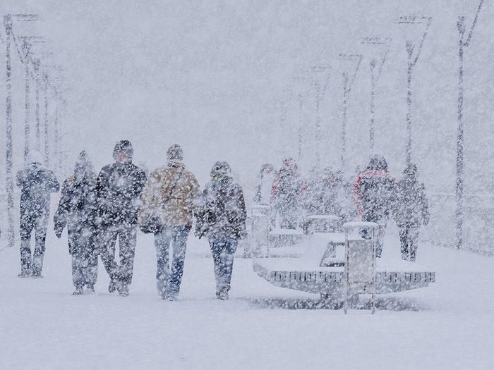 La neige est croissante au Canada depuis 20 ans environ.