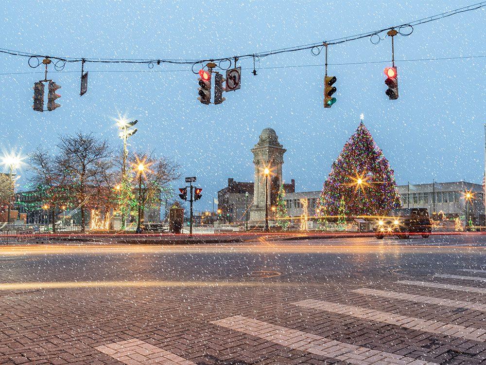 La neige a été bannie par décret à Syracuse, New York.