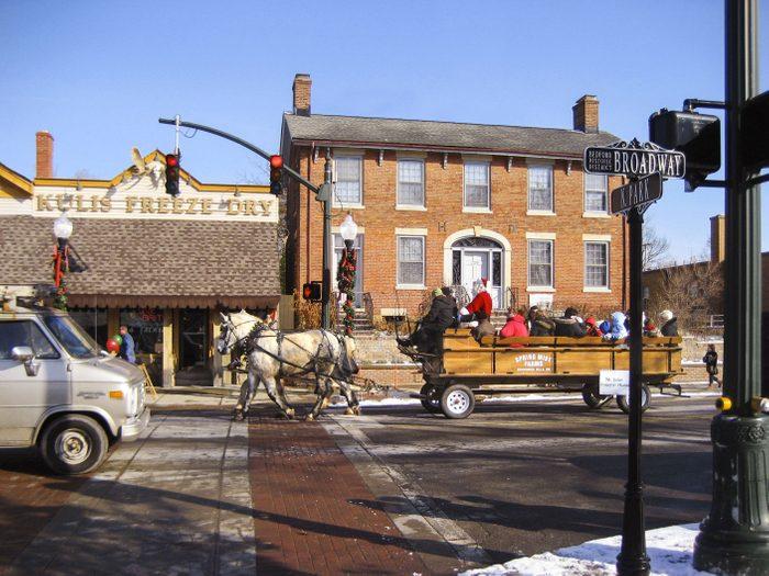 Bedford dans l'Ohio, est l'un des villages au Noël d'antan à visiter.