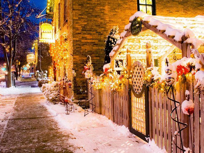 Cedarburg dans le Wisconsin, est l'un des villages au Noël d'antan à visiter.