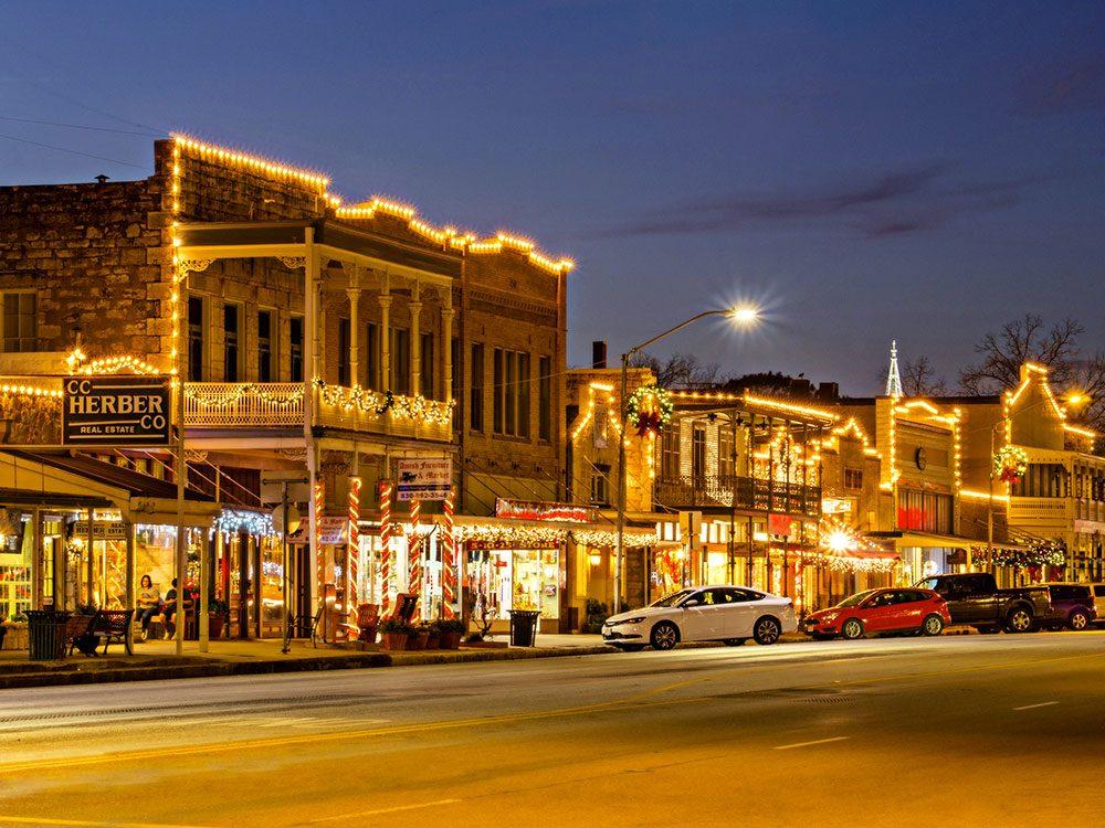 Fredericksburg au Texas, est l'un des villages au Noël d'antan à visiter.
