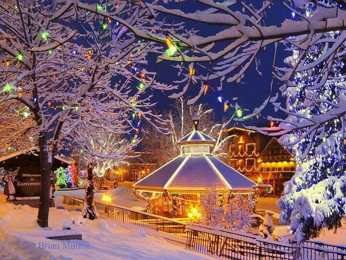 Leavenworth dans l'État de Washington, est l'un des villages au Noël d'antan à visiter.