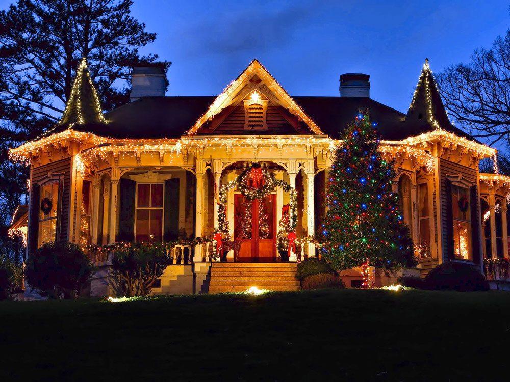 McAdenville en Caroline du Nord, est l'un des villages au Noël d'antan à visiter.