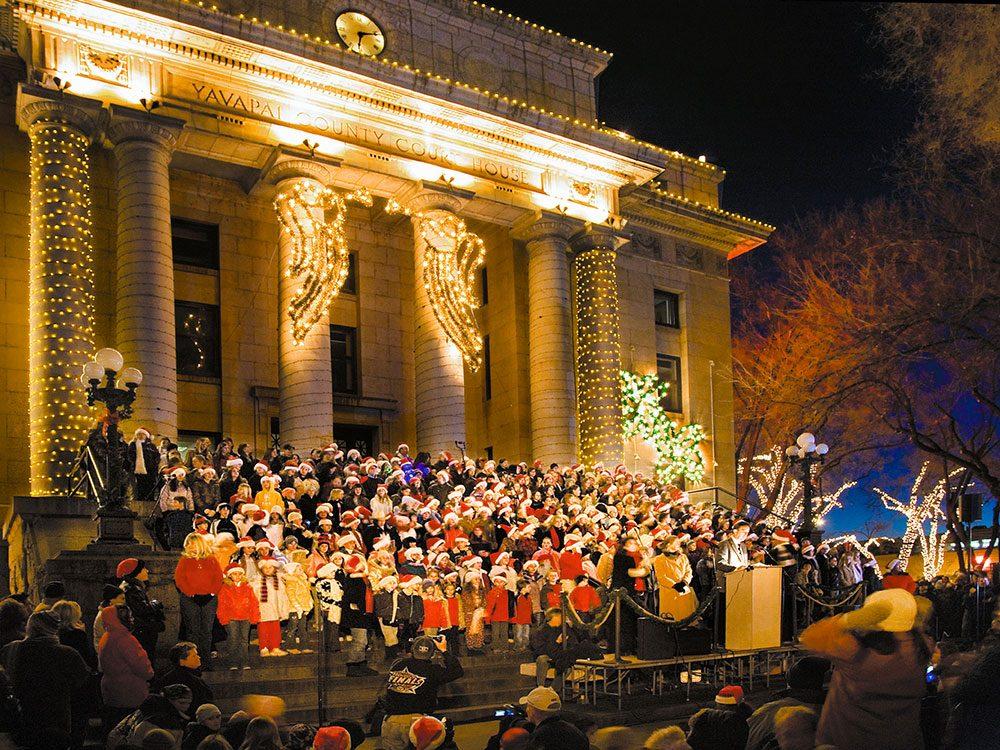 Prescott en Arizona, est l'un des villages au Noël d'antan à visiter.