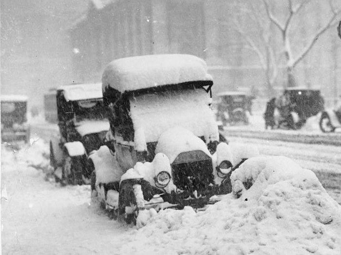 Une photo historique de 1917 à New York.