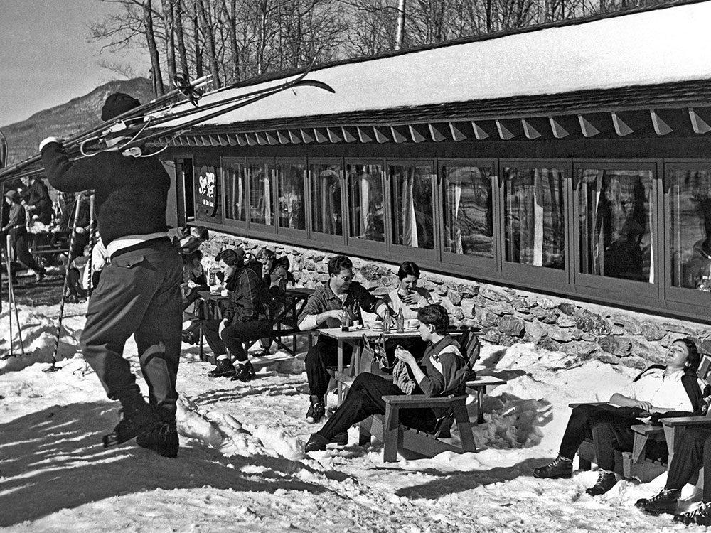 Une photo historique des pistes du Vermont en 1958.