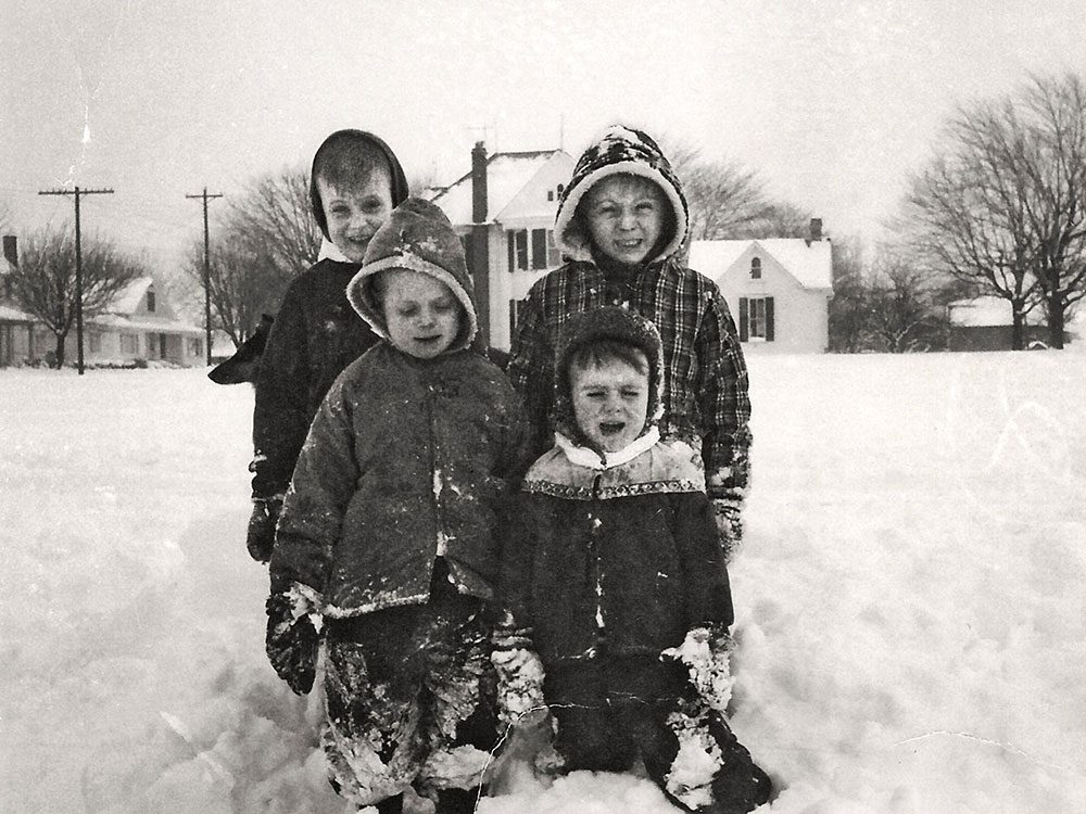 Une photo historique de l'hiver 1966 à Stoutsville, dans l'Ohio.