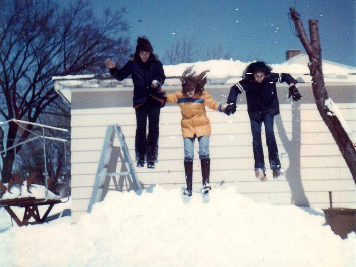 Une photo historique de l'hiver 1975.