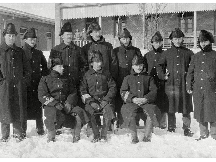 Une photo historique des soldats du Royal Inniskilling Fusiliers.