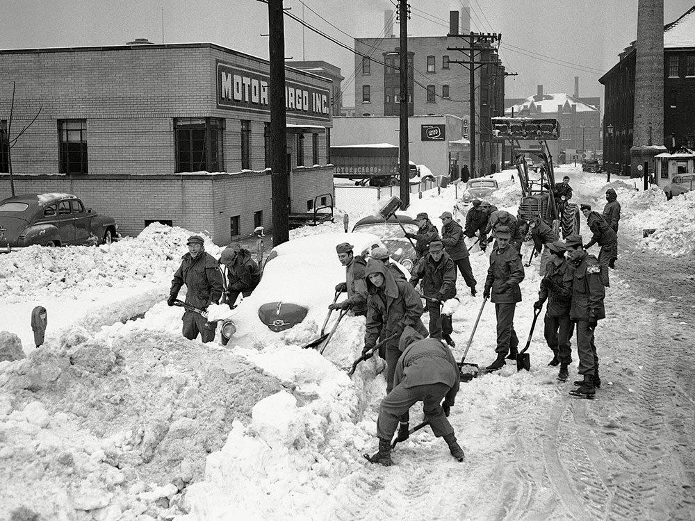 Une photo historique de Cleveland en 1950.