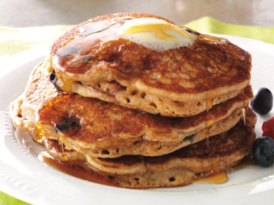 Pancakes au muesli et aux petits fruits, à congeler.