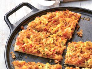 Pizza-déjeuner épicée