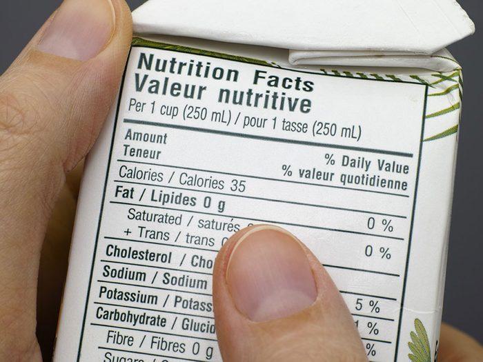 Alimentation: des étiquettes nutritionnelles trompeuses.