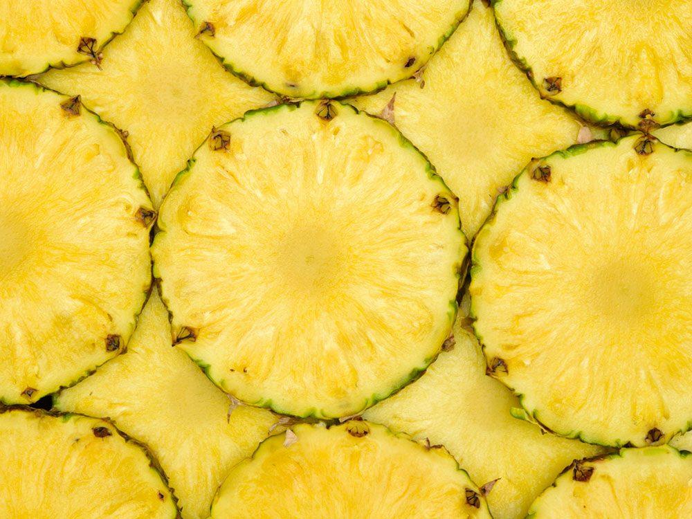 Alimentation: de l'ananas qui gèle la langue.