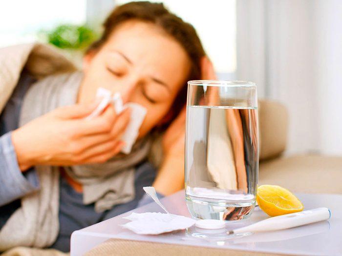 Arrêter le sucre pour être moins souvent enrhumé.