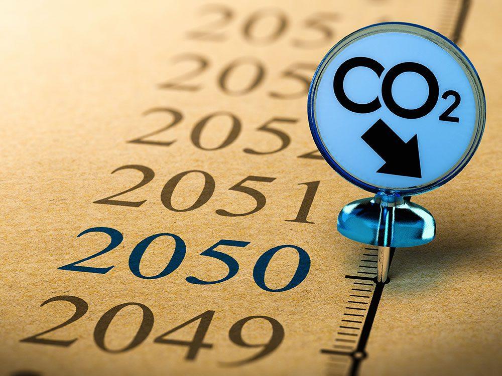 Quel serait l'impact sur le changement climatique si les émissions sont plus faibles?