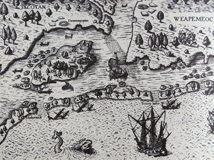 Le mystère de la colonie perdue de Roanoke.