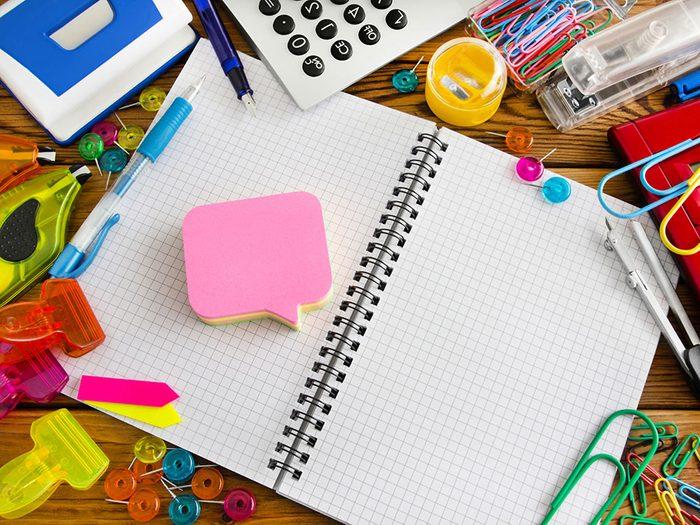Mieux vaut faire des listes réalistes pour une bonne organisation.