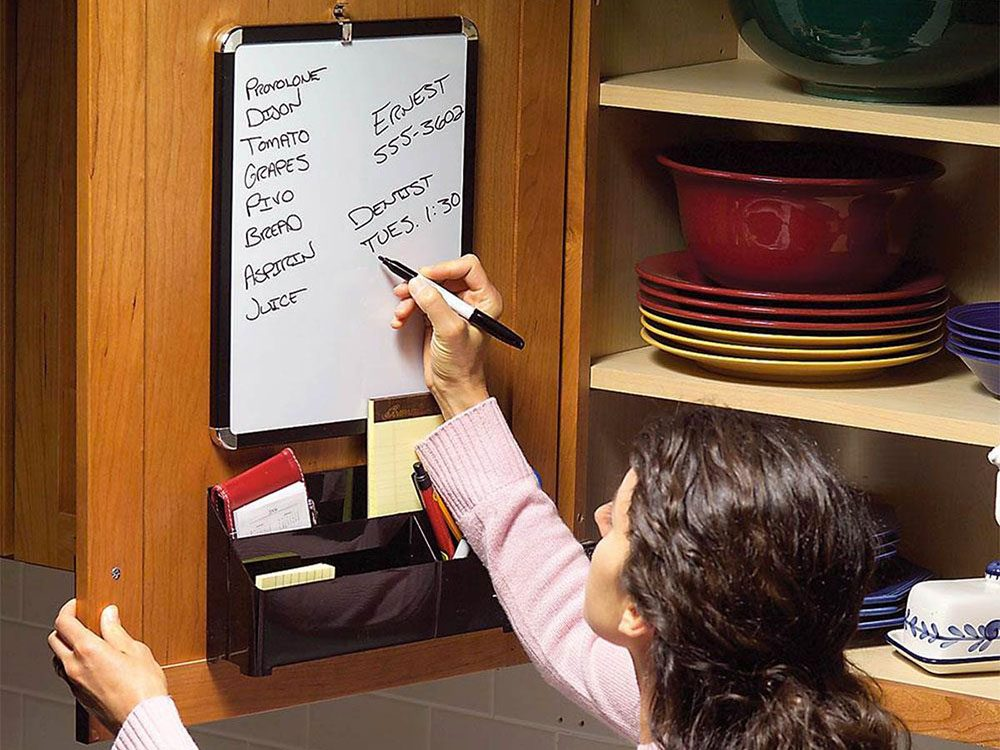 Avoir un centre de messagerie discret pour organiser sa cuisine.