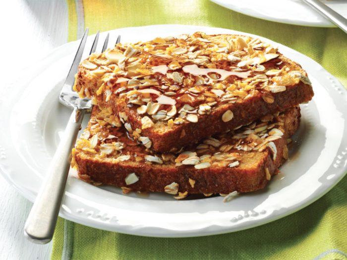 Recette de pain doré aux amandes.