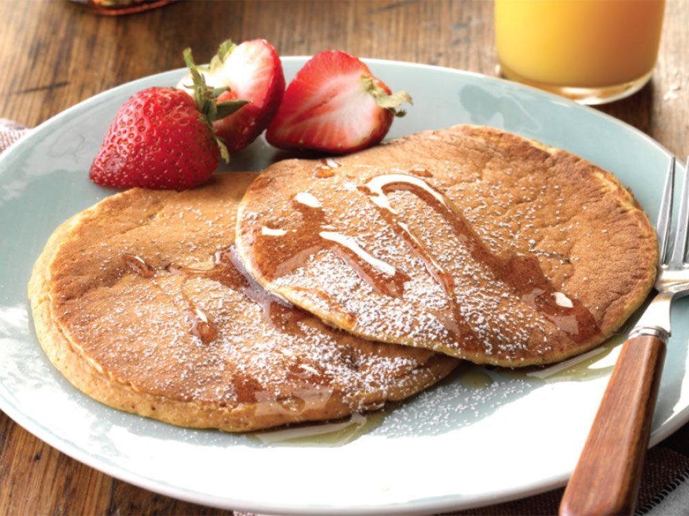 Recette de pancakes à la citrouille.