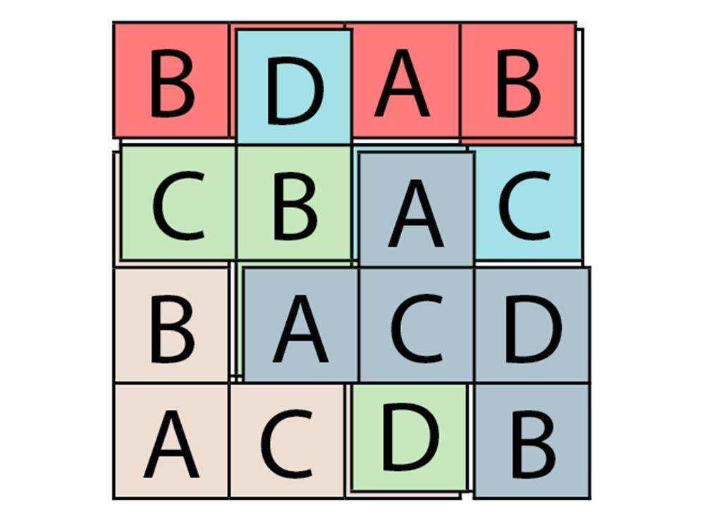 Jeu pour stimuler votre cerveau: lettres superposées, réponses.