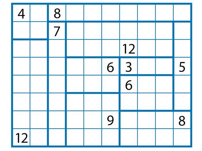 Jeu pour stimuler votre cerveau: rectangles, réponses.