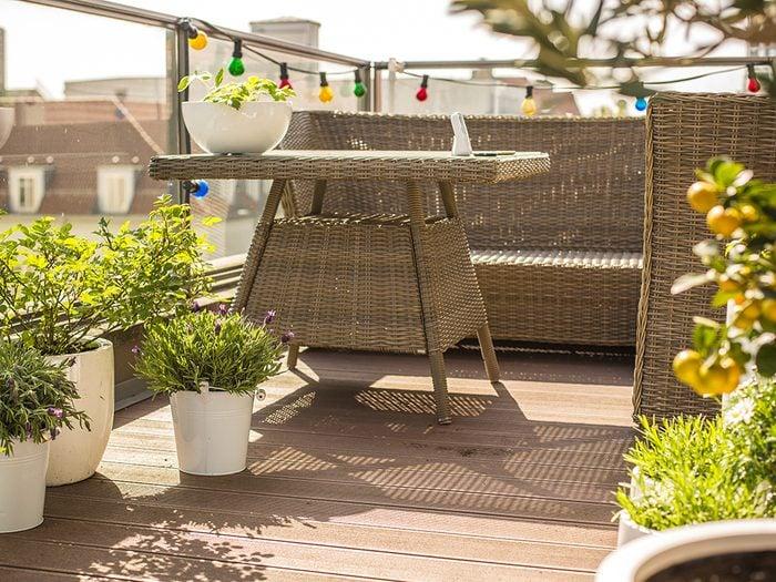 Passer un moment de détente sur votre balcon, en ville, c'est possible!