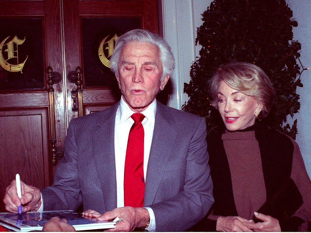 Anne n'a jamais autorisé Kirk Douglas à paresser.