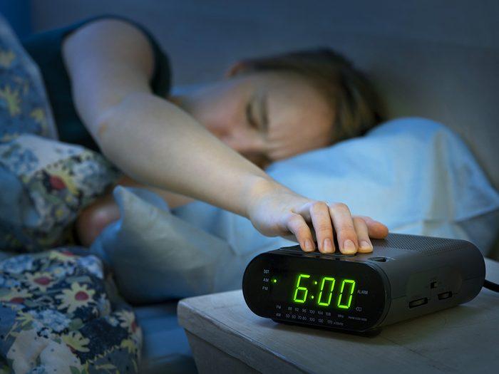 Conseil de lève-tôt: n'utilisez pas la fonction «rappel» de votre alarme.