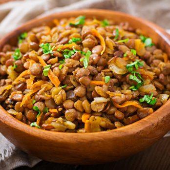 Salade de lentilles et de carottes