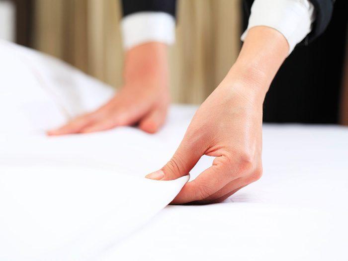 Secrets d'hôtels: le personnel de l'entretien ménager compte sur vous.