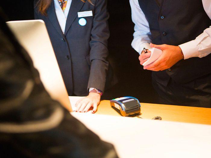 Secrets d'hôtels: ils n'obtiennent rien des sites de réservation en ligne.