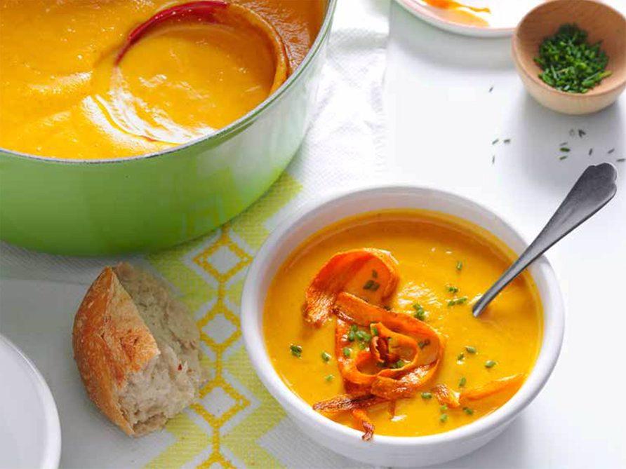 Recette de bisque carottes et panais.