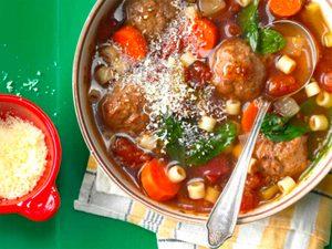 Soupe de boulettes de viande